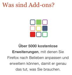 5000 Add-ons für Firefox