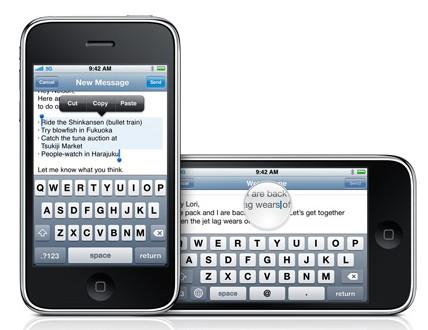 iPhone OS 3.0 mit Copy & Paste