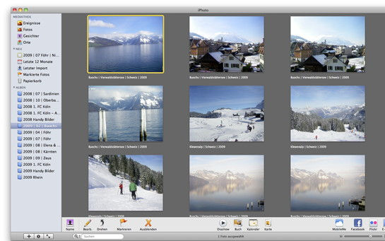 iPhoto-Benutzeroberfläche