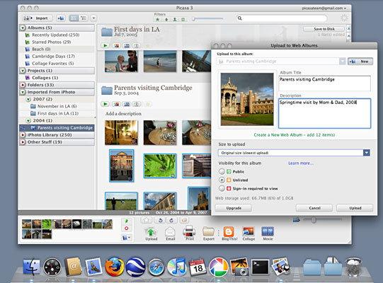 Picasa 3.0 für Mac OS X