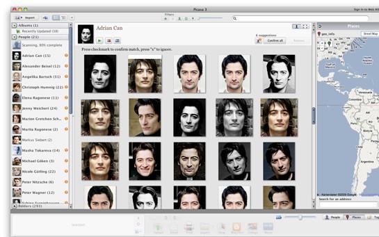 Picasa-Gesichtserkennung