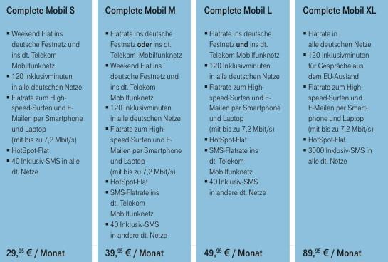 Neue Telekom-Tarife für das iPhone