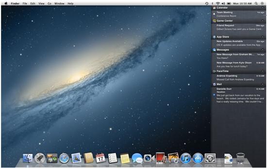 Notifikationszentrale in Mac OS X 10.8