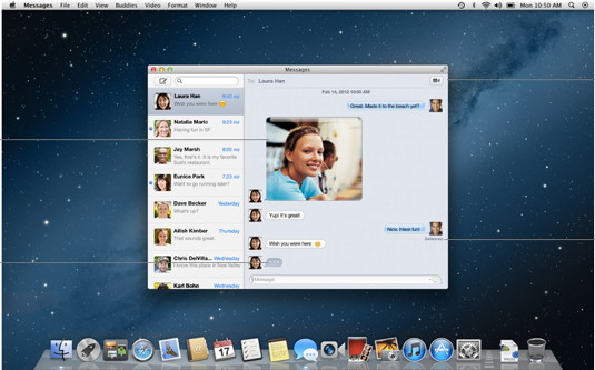 Messages in Mac OS X 10.8