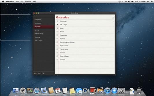 Erinnerungen in Mac OS X 10.8