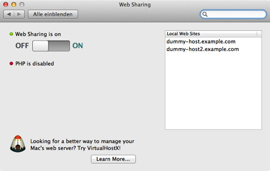 Web-Sharing