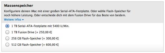 Neue SSD-Optionen für den iMac