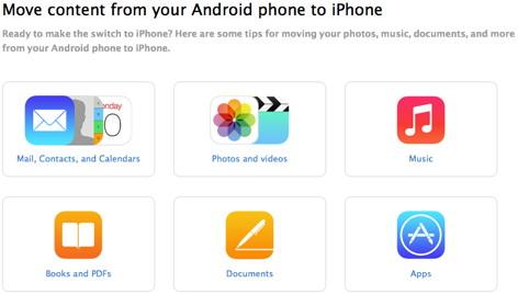 Anleitung zum Umstieg von Android auf iOS