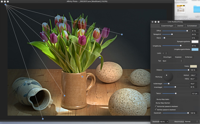 Screen: Affinity Photo - professionelle Funktionen