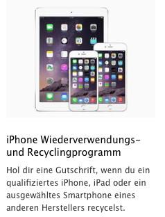 Trade-in-Programm von Apple