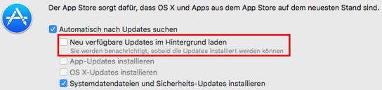 Automatischen Download von macOS Sierra unterbinden