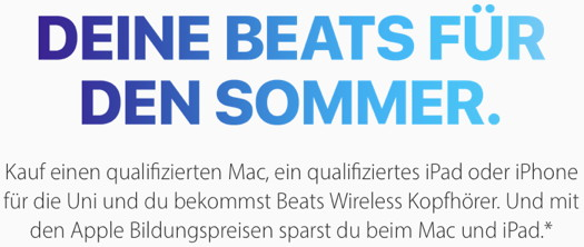 Apple-Sonderaktion für den Bildungsbereich in Europa
