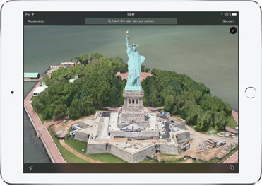 3D-Flyover-Ansicht in Apple Maps