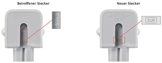 Apple: Rückrufprogramm für Netzteilstecker-Adapter