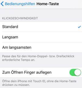 iOS 10 - Entsperren