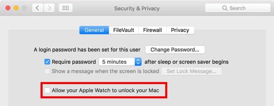 macOS Sierra: Login via Apple Watch