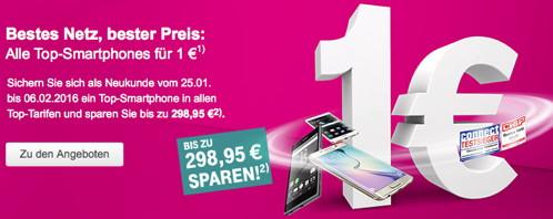 Telekom: iPhone 6s und iPhone 6s Plus ab einem Euro bei Abschluss eines Neuvertrags