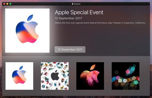 Inoffizielle Apple-Events-App für den Mac