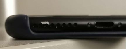 Abblätternde Farbe beim schwarzen iPhone 7