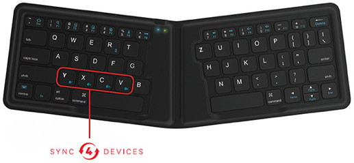 MultiSync Foldable Travel Keyboard