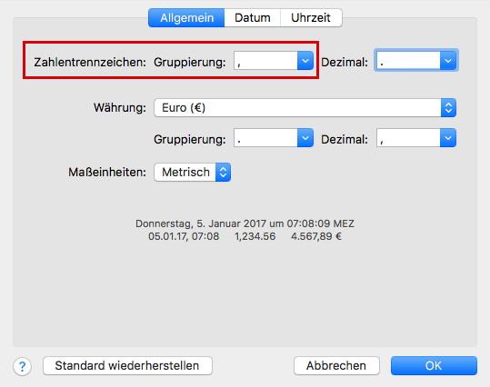 Tabellenkalkulation Numbers 4.2: Absturzproblem bei Zifferneingabe lösen