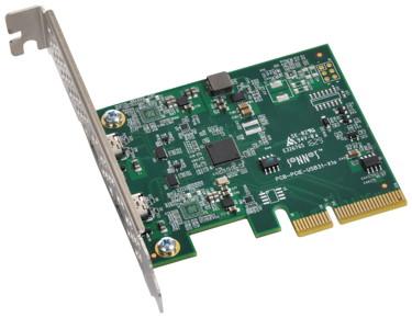 PCIe-Karte mit USB-C-Ports