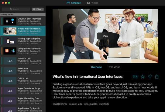 WWDC-App für den Mac