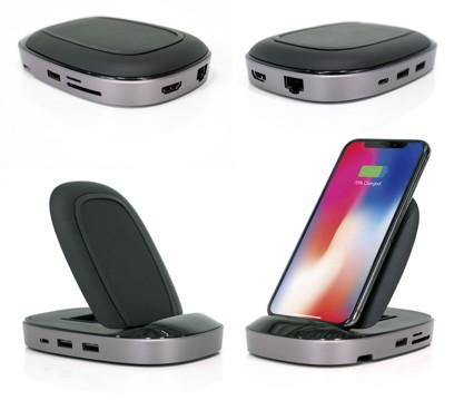 USB-C-Dock mit Induktions-Ladefläche für iPhones
