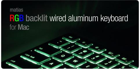 Mac-Tastatur mit farblich anpassbarer Beleuchtung
