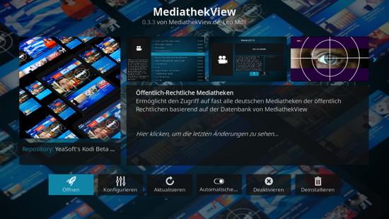 MediathekView-Erweiterung für Kodi