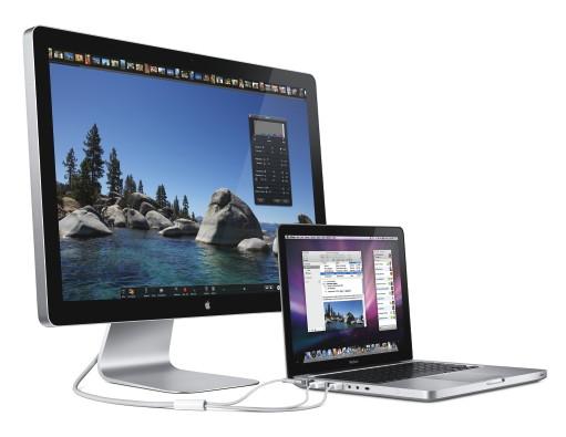 Das neue 24-Zoll-Cinema Display mit einem MacBook